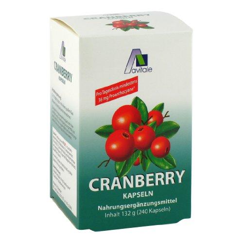 Avitale Cranberry Kapseln 400 mg, 240 Stück,  1er Pack (1 x 132 g) - 1
