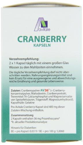 Avitale Cranberry Kapseln 400 mg, 240 Stück,  1er Pack (1 x 132 g) - 3