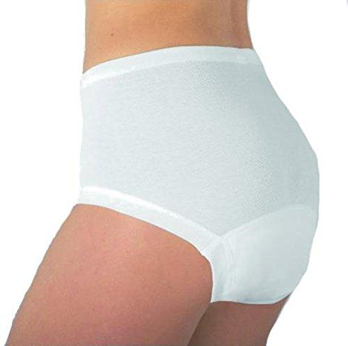 Damen-Taillenslip - Inkontinenzwäsche mit Auslaufschutz, weiss, L - Damen - 1